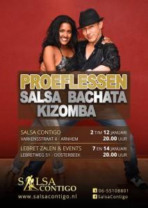 Proeflessen Salsa Bachata Kizomba
